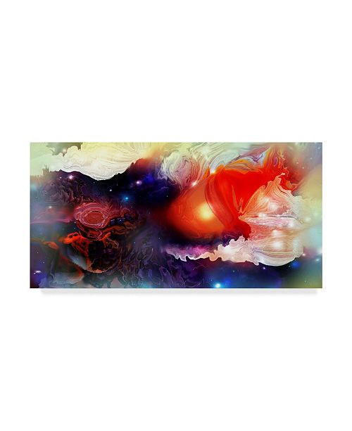 "Trademark Global RUNA 'Space Red' Canvas Art - 24"" x 12"" x 2"""