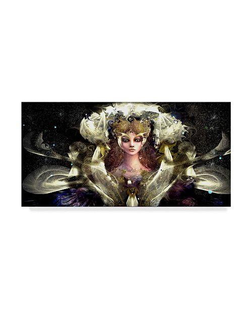 "Trademark Global RUNA 'Girl With Yellow Eyes' Canvas Art - 24"" x 12"" x 2"""