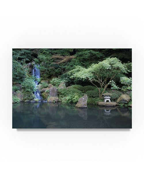 "Trademark Global Moises Levy 'Japanese Garden' Canvas Art - 24"" x 16"" x 2"""