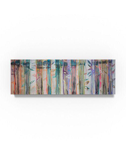 """Trademark Global Zwart 'Colored Canvas Art - 24"""" x 8"""" x 2"""""""