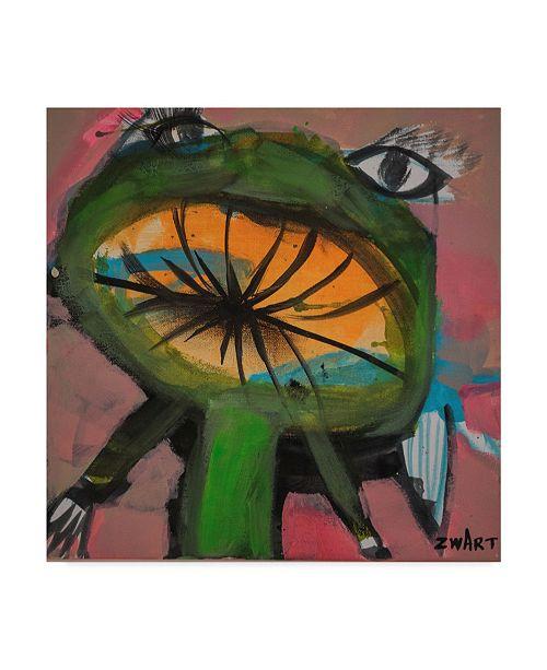 """Trademark Global Zwart 'Frog Kiss' Canvas Art - 18"""" x 18"""" x 2"""""""