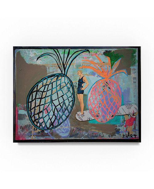 "Trademark Global Zwart 'Pineapple Boarder' Canvas Art - 19"" x 14"" x 2"""