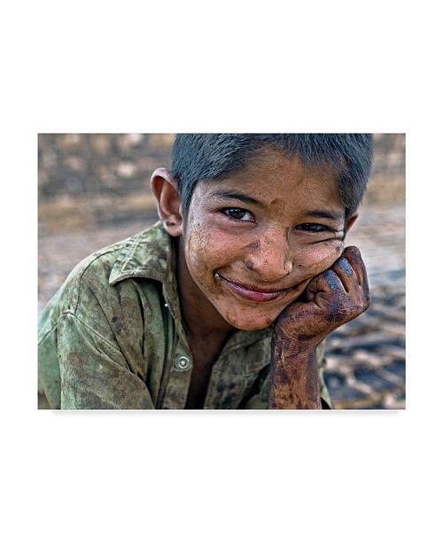"Trademark Global Mohammadreza Momeni 'Smile 1' Canvas Art - 19"" x 2"" x 14"""