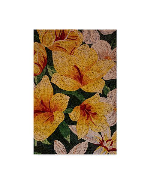 """Trademark Global Moises Levy 'Art Flower White' Canvas Art - 24"""" x 16"""" x 2"""""""