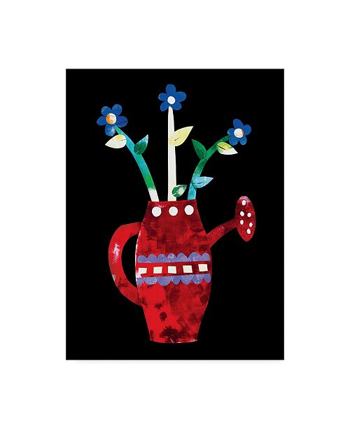 """Trademark Global Summer Tali Hilty 'Potted Plants Red' Canvas Art - 19"""" x 14"""" x 2"""""""
