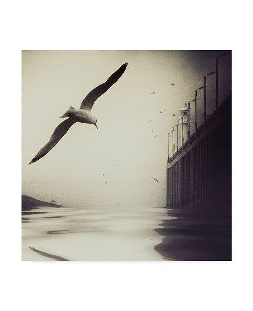 """Trademark Global Piet Flour 'The Tide' Canvas Art - 18"""" x 2"""" x 18"""""""