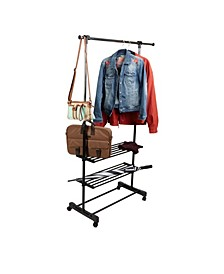 Garment Rack, Adjustable, Commercial Grade Clothing Rack/Black
