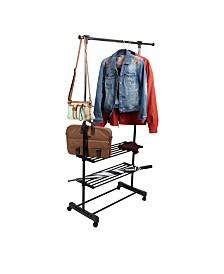 Mind Reader Garment Rack, Adjustable, Commercial Grade Clothing Rack/Black