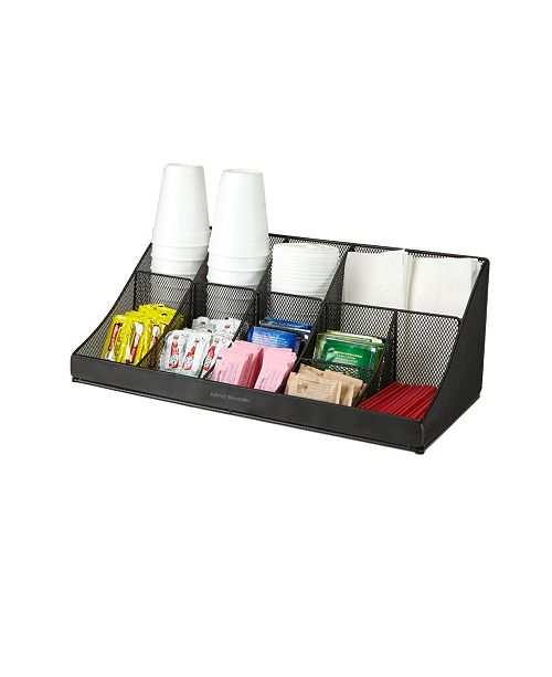 Mind Reader 11 Compartment Breakroom Coffee Condiment Organizer
