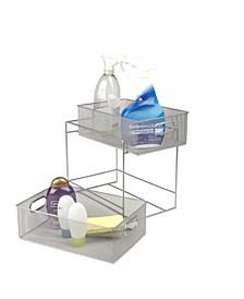 2 Tier Metal Mesh Storage Baskets Organizer, Home, Office, Kitchen, Bathroom