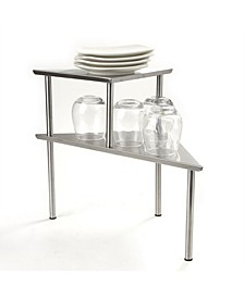 2 Tier All Purpose Metal Kitchen Corner Rack