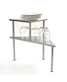 Mind Reader 2 Tier All Purpose Metal Kitchen Corner Rack