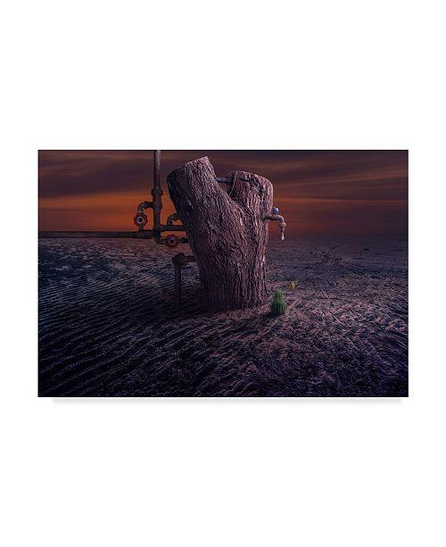 "Trademark Global Sulaiman Almawash 'A Drop Of Water' Canvas Art - 24"" x 2"" x 16"""