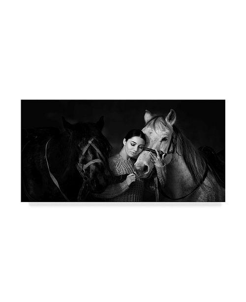 """Trademark Global Mikhail Potapov 'My Horse' Canvas Art - 32"""" x 2"""" x 16"""""""