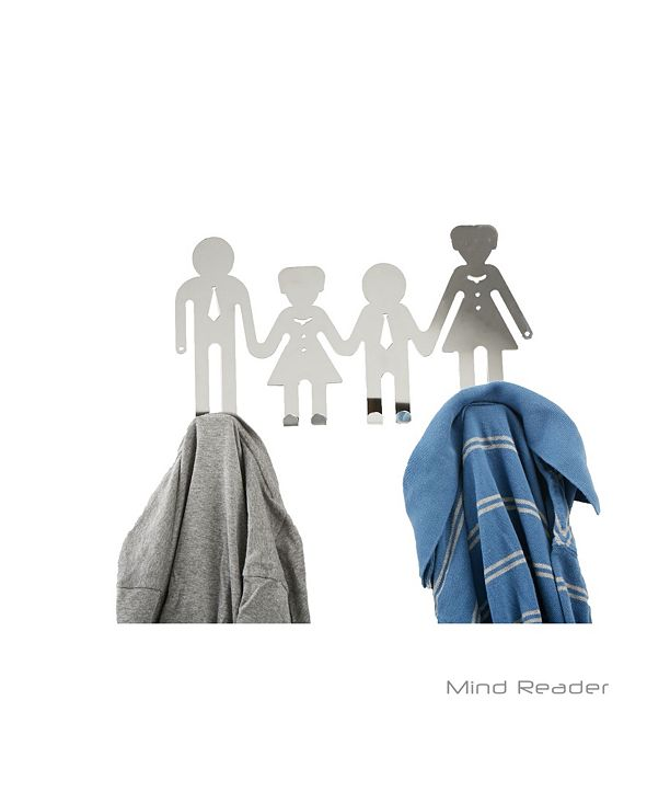 Mind Reader 8 Hook Over-the-Door Rack with Family Design