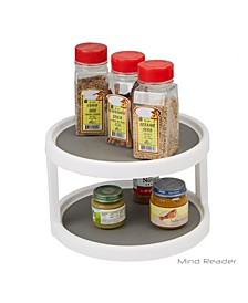 2-Tier Kitchen Storage Spice Rack Counter top Organizer, Spins 360 Degrees