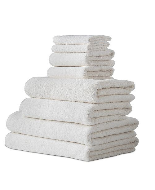 Makroteks Classic Turkish Towels Arsenal 8 Piece Turkish Cotton Towel Set with 2 Large Bath Sheets Included