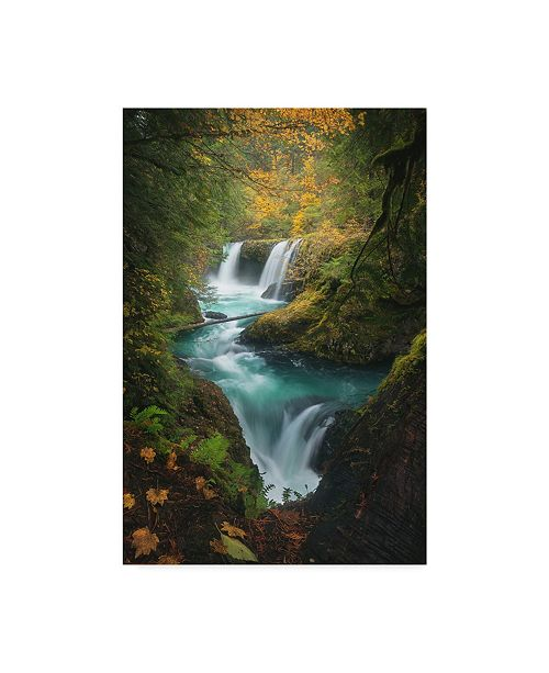 "Trademark Global Steve Schwindt 'Autumn At Spirit Falls' Canvas Art - 22"" x 2"" x 32"""
