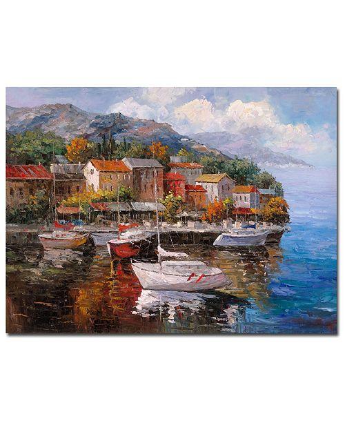 "Trademark Global Joval 'At Sea' Canvas Art - 19"" x 14"" x 2"""