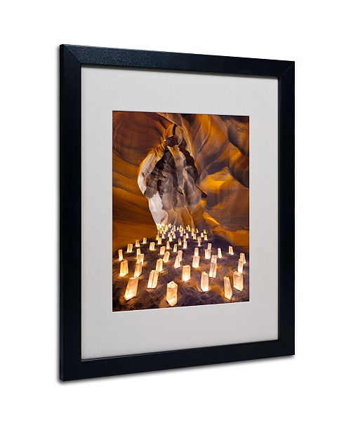 """Trademark Global Moises Levy 'Candle Canyon I' Matted Framed Art - 20"""" x 16"""" x 0.5"""""""