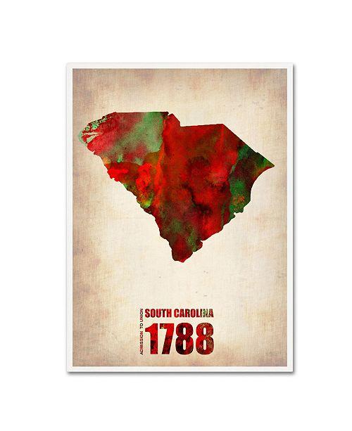 "Trademark Global Naxart 'South Carolina Watercolor Map' Canvas Art - 19"" x 14"" x 2"""