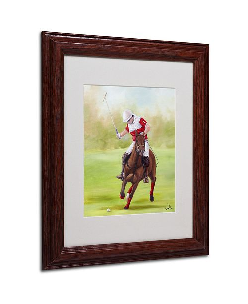 "Trademark Global Michelle Moate 'Horse of Sport I' Matted Framed Art - 14"" x 11"" x 0.5"""