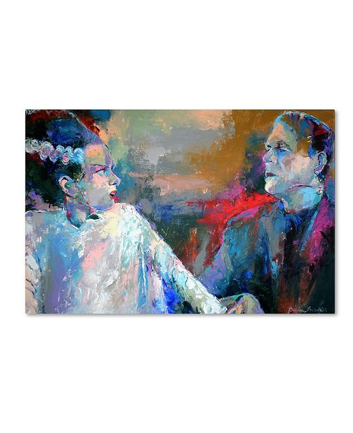 "Trademark Global Richard Wallich 'Frankenstein and His Wife' Canvas Art - 22"" x 32"" x 2"""