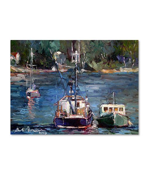 "Trademark Global Richard Wallich 'Waiting to Ride' Canvas Art - 19"" x 14"" x 2"""