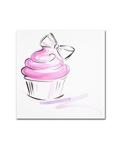 "Trademark Global Jennifer Lilya 'Cupcake 2' Canvas Art - 18"" x 18"" x 2"""
