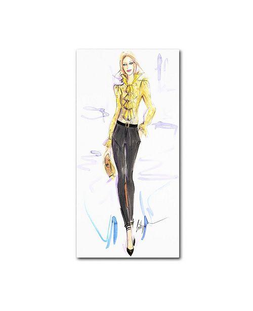 "Trademark Global Jennifer Lilya 'Honey Mustard' Canvas Art - 24"" x 47"" x 2"""
