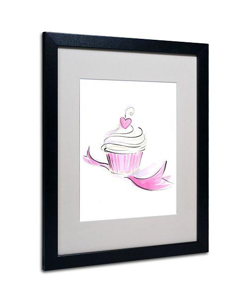 "Trademark Global Jennifer Lilya 'Cupcake 8' Matted Framed Art - 20"" x 16"" x 0.5"""