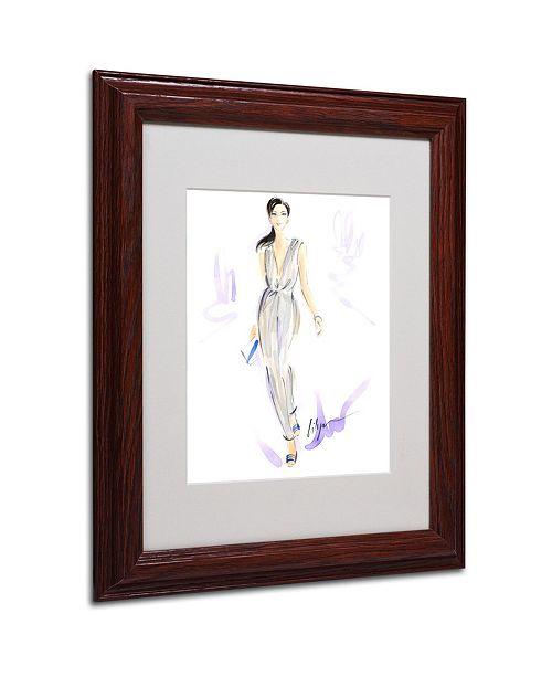 "Trademark Global Jennifer Lilya 'Silver Wear' Matted Framed Art - 11"" x 14"" x 0.5"""
