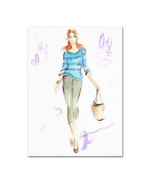 "Trademark Global Jennifer Lilya 'Springtime Stroll' Canvas Art - 18"" x 24"" x 2"""