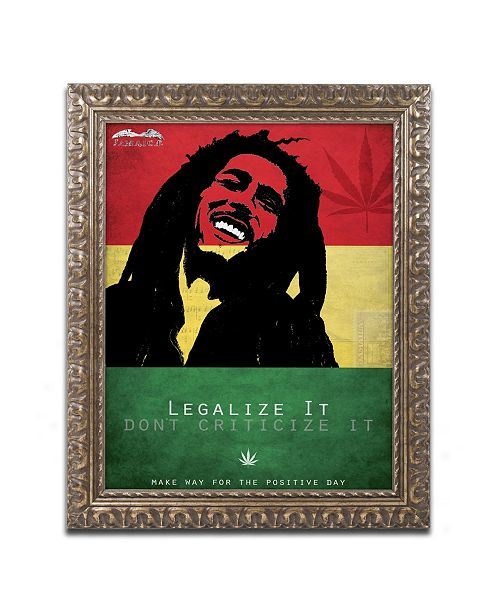 "Trademark Global Potman 'Legalize It' Ornate Framed Art - 14"" x 11"" x 0.5"""