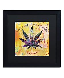 "Potman 'Colorado State of Mind' Matted Framed Art - 16"" x 16"" x 0.5"""