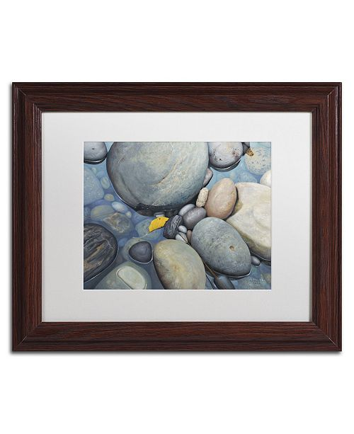 """Trademark Global Stephen Stavast 'Reflections on a Gray Day' Matted Framed Art - 14"""" x 11"""" x 0.5"""""""