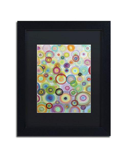 """Trademark Global Sylvie Demers 'Bulles' Matted Framed Art - 16"""" x 20"""" x 0.5"""""""