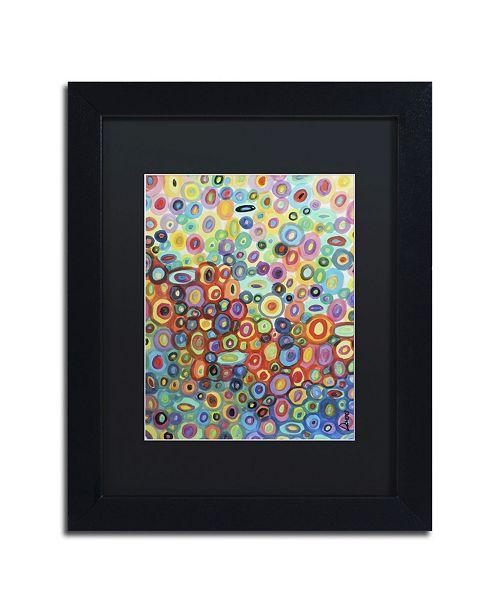 """Trademark Global Sylvie Demers 'First Love' Matted Framed Art - 11"""" x 14"""" x 0.5"""""""