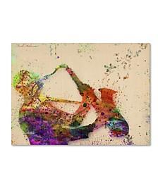 """Mark Ashkenazi 'Saxophone' Canvas Art - 47"""" x 35"""" x 2"""""""