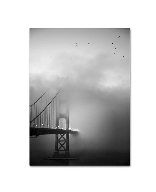 "Trademark Global Moises Levy 'Golden Gate and Birds' Canvas Art - 32"" x 24"" x 2"""