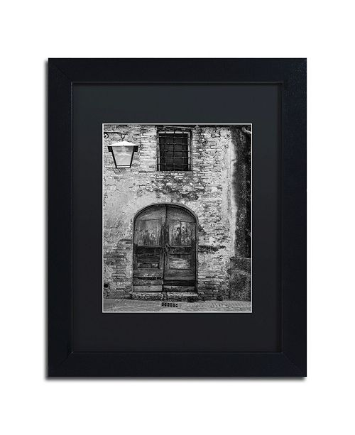 "Trademark Global Moises Levy 'San Gimignano Door' Matted Framed Art - 11"" x 14"" x 0.5"""