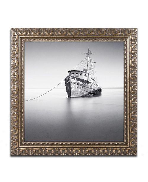 """Trademark Global Moises Levy 'Barco Hundido' Ornate Framed Art - 16"""" x 16"""" x 0.5"""""""