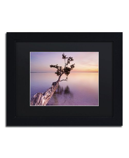 """Trademark Global Moises Levy 'Water Tree XI' Matted Framed Art - 11"""" x 14"""" x 0.5"""""""