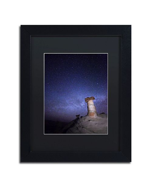 "Trademark Global Moises Levy 'Starry Night in Arizona I' Matted Framed Art - 11"" x 14"" x 0.5"""