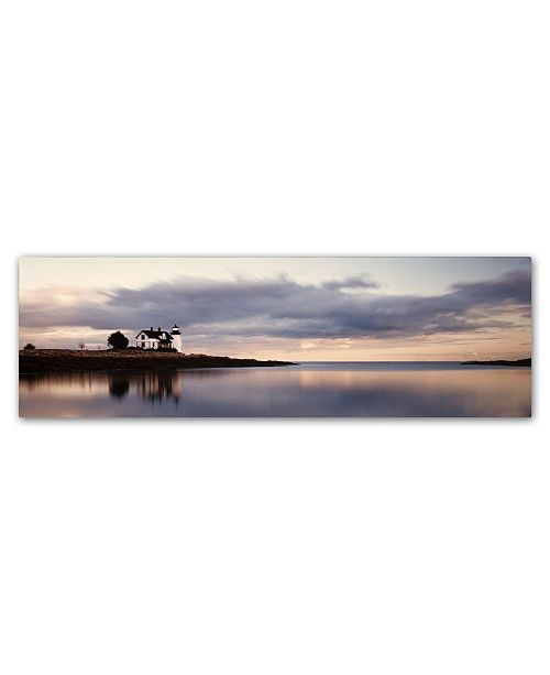 """Trademark Global Moises Levy 'Prospect Light Panoramica 2 Color' Canvas Art - 19"""" x 6"""" x 2"""""""