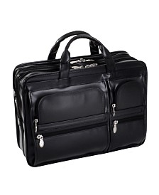 Mcklein Hubbard Double Compartment Laptop Briefcase