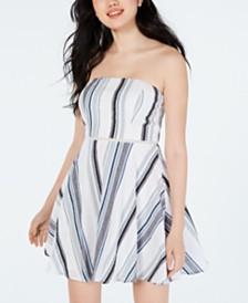 City Studios Juniors' Strapless Fit & Flare Dress