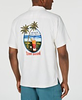 0a1f438c550 Tommy Bahama Men's Meet Me At The 19th Hole Embroidered Silk Camp Shirt