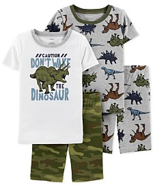 Carter's Little & Big Boys 4-Pc. Cotton Dinosaur Pajamas Set
