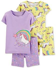 Carter's Toddler Girls 4-Pc. Cotton Unicorn Pajamas Set